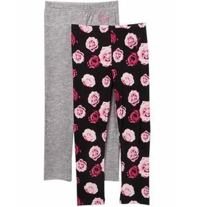 Betsey Johnson Floral and Solid 2 Pack Leggings